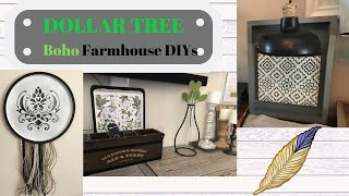 DOLLAR TREE BOHO FARMHOUSE DIYS/ BOHO FARMHOUSE DECOR/ DOLLAR TREE DIY/ BUDGET FRIENDLY DECOR