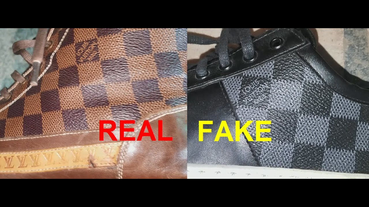 Real vs. Fake Louis Vuitton shoes. How