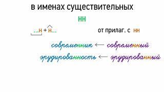 Правописание Н, НН в именах существительных (6 класс, видеоурок-презентация)