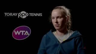 Caroline Wozniacki 2016 Toray Pan Pacific Open Semifinal Interview