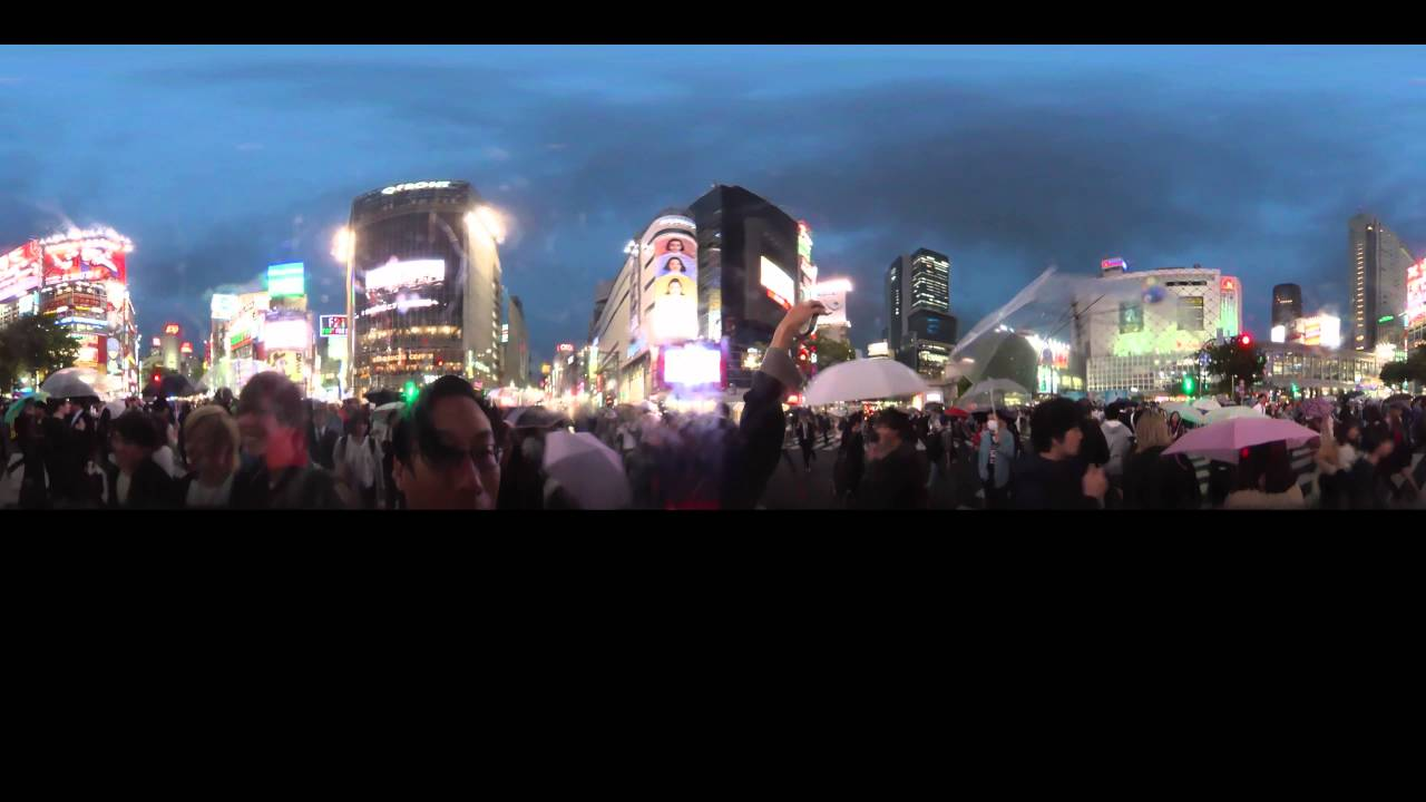 Shibuya Crossing 360 video (manually select highest quality instead of using auto)