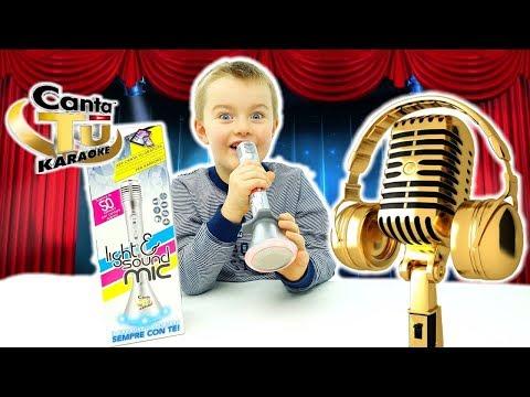 Giochi Preziosi: Canta tu Karaoke Light & Sound: L'Unico Microfono Con Amplificatore Bluetooth E Led