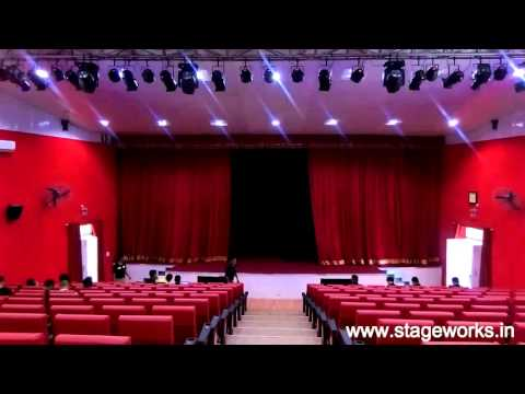 MOTORIZE STAGE CURTAIN & STAGE LIGHTS - CYCLORAMA