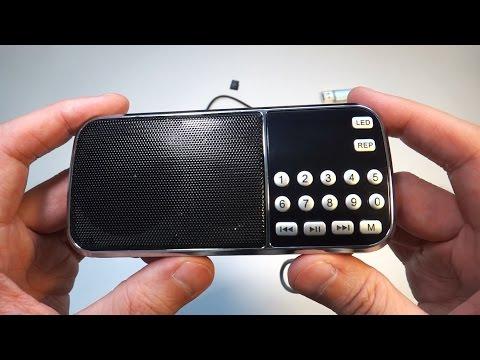 Портативная мини колонка mp3 с флешкой и FM радио