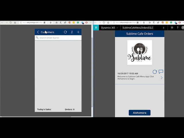 PowerApps: Restaurant App Demo