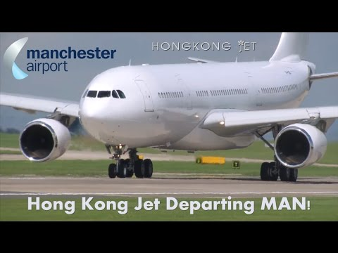 *RARE* Hong Kong Jet A330 Departing Manchester back to Stansted!