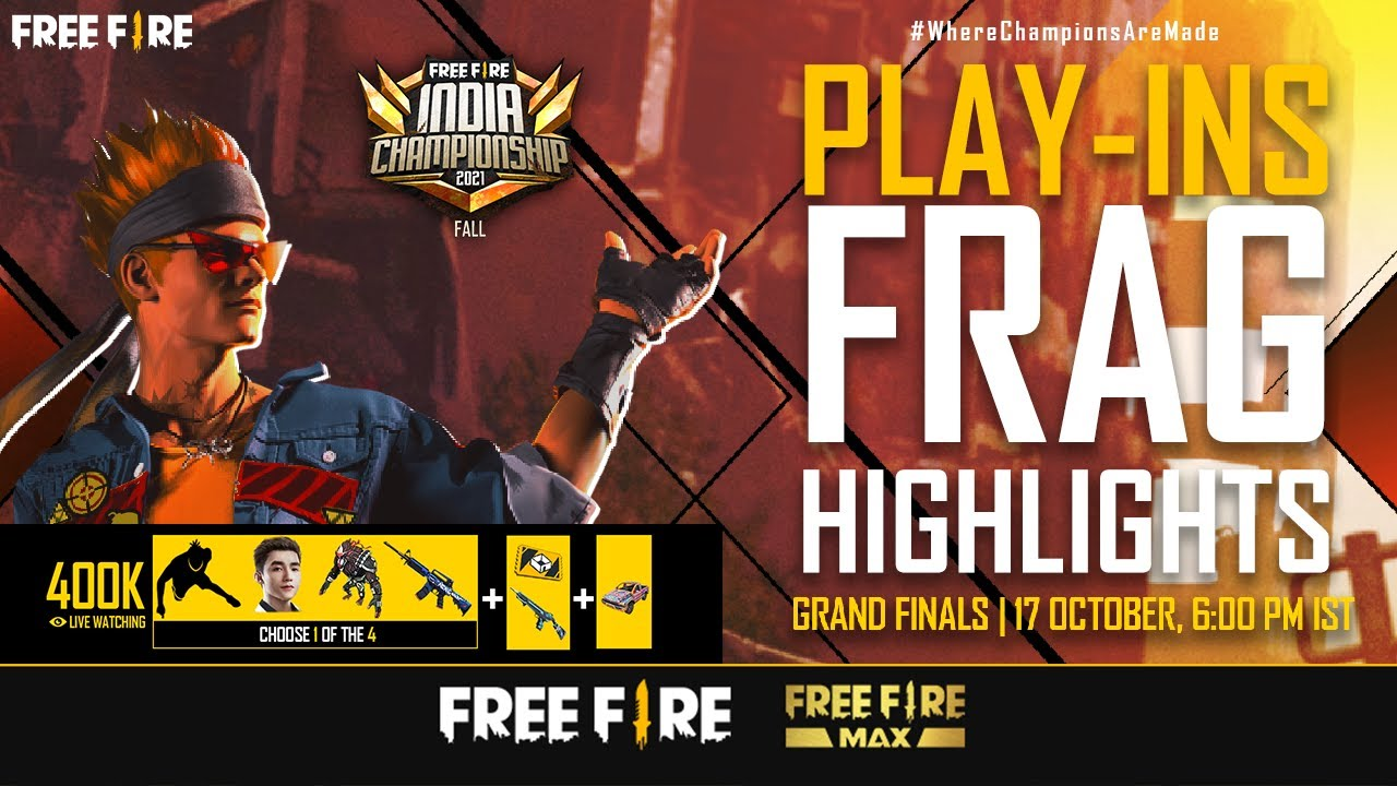 FFIC 2021 Fall Play-Ins Frag Highlights   Free Fire India Championship 2021