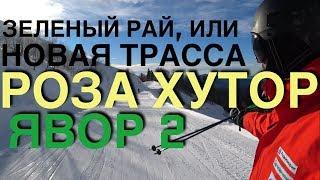 Зеленый рай для новичков, обзор новой трассы ЯВОР2 на Роза Хутор.