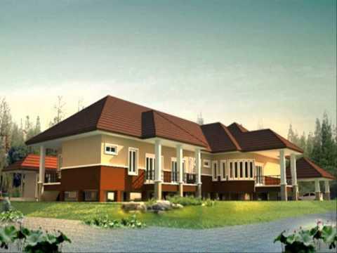 รับสร้างบ้านทรงไทย แบบบ้าน2ชั้นใต้ถุนโล่ง