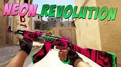 CS:GO - AK-47 | Neon Revolution Gameplay