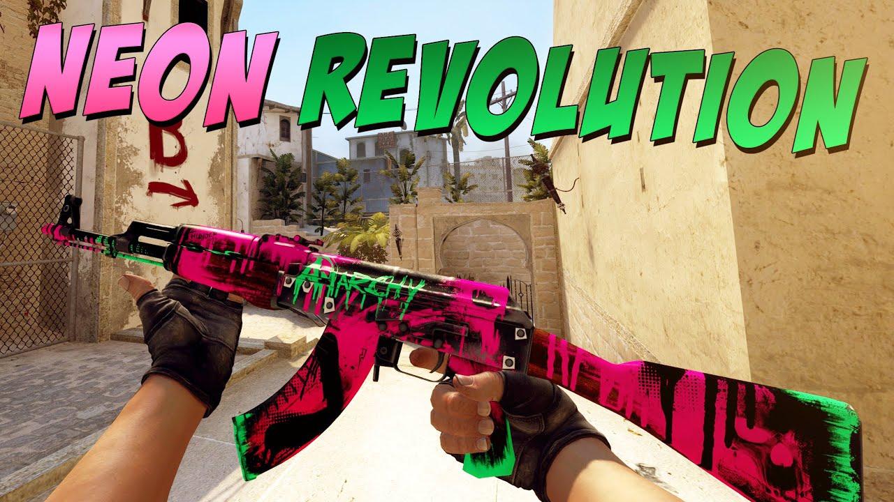 cs go ak 47 neon revolution gameplay youtube