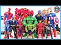 HULKBUSTER, HULK, SPIDER MAN, IRON MAN, CAPTAIN AMERICA! MARVEL AVENGERS VS Thanos and Villains