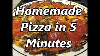 Tortilla crust Pizza in 5 minutes