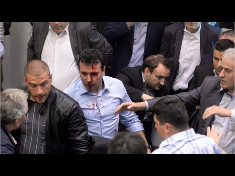 Angry Nationalists Storm Parliament In Macedonia