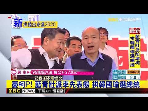 最新》憂柯P!藍青壯派率先表態 拱韓國瑜選總統