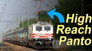 High Rise Pantograph Locomotives in Rewari Delhi Passenger