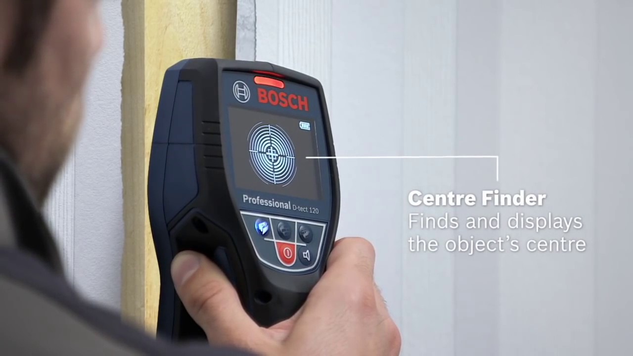 bosch wall scanner d-tect 120 professional - youtube