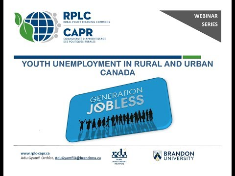 Youth Unemployment in Rural and Urban Canada
