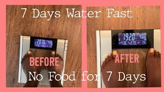 7 Days Water Fast| Symptoms and Results| Muscle Mass Increase