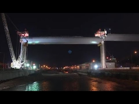 Genova, Ponte Morandi posizionata campata da 94 metri