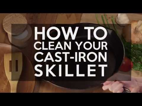 How to Clean Your Cast-Iron Skillet