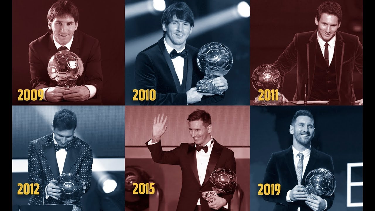 Relive Leo Messi's six Ballon d'Or triumphs - YouTube