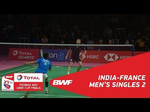 Thomas Cup | MS2 | Sameer VERMA (IND) vs Lucas CORVEE (FRA) | BWF 2018