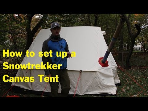 How to set up a Snowtrekker canvas tent & How to set up a Snowtrekker canvas tent - YouTube