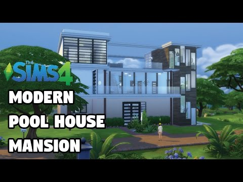 Pool House Mansion CC | Speed Build | The Sims 4