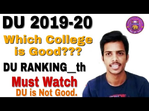 Which College Is Good??? || DU University Ranking || DU ADMISSION 2019