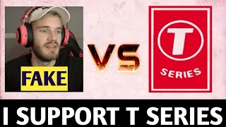 I support t series subscribe to t-series  || T-Series Vs pewdiepie
