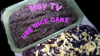 Ube Rice cake  How to cook Ube Rice Cake  Kakaning pinoy ala May TV