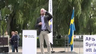 Adam Berg på valfinalen i Kungsträdgården 7 september 2018