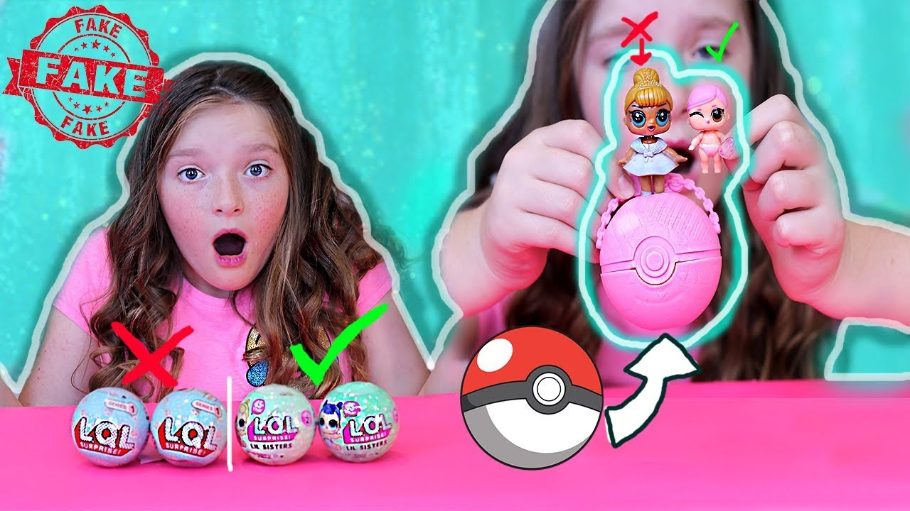 FAKE VS REAL L.O.L Surprise dolls! FAKE LQL dolls look like pokemon balls!