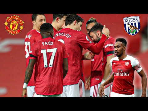 Man Utd falter at West Brom, Aubameyang treble sinks Leeds