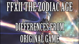 Final Fantasy XII: The Zodiac Age - Differences From the Original Game