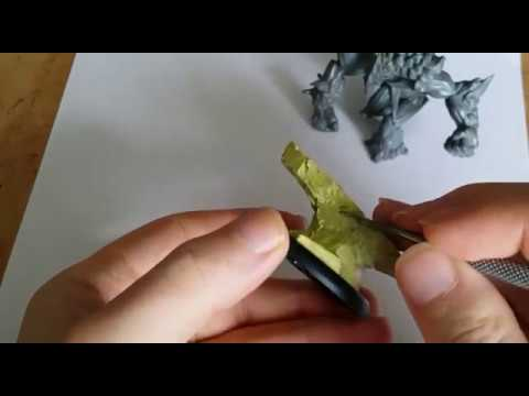 Malifaux Ice Golem tutorial. Scenic base sculpting and paint