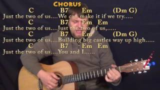 Just The Two Of Us (Bill Withers) Fingerstyle Guitar Cover Lesson in C with Chords/Lyrics