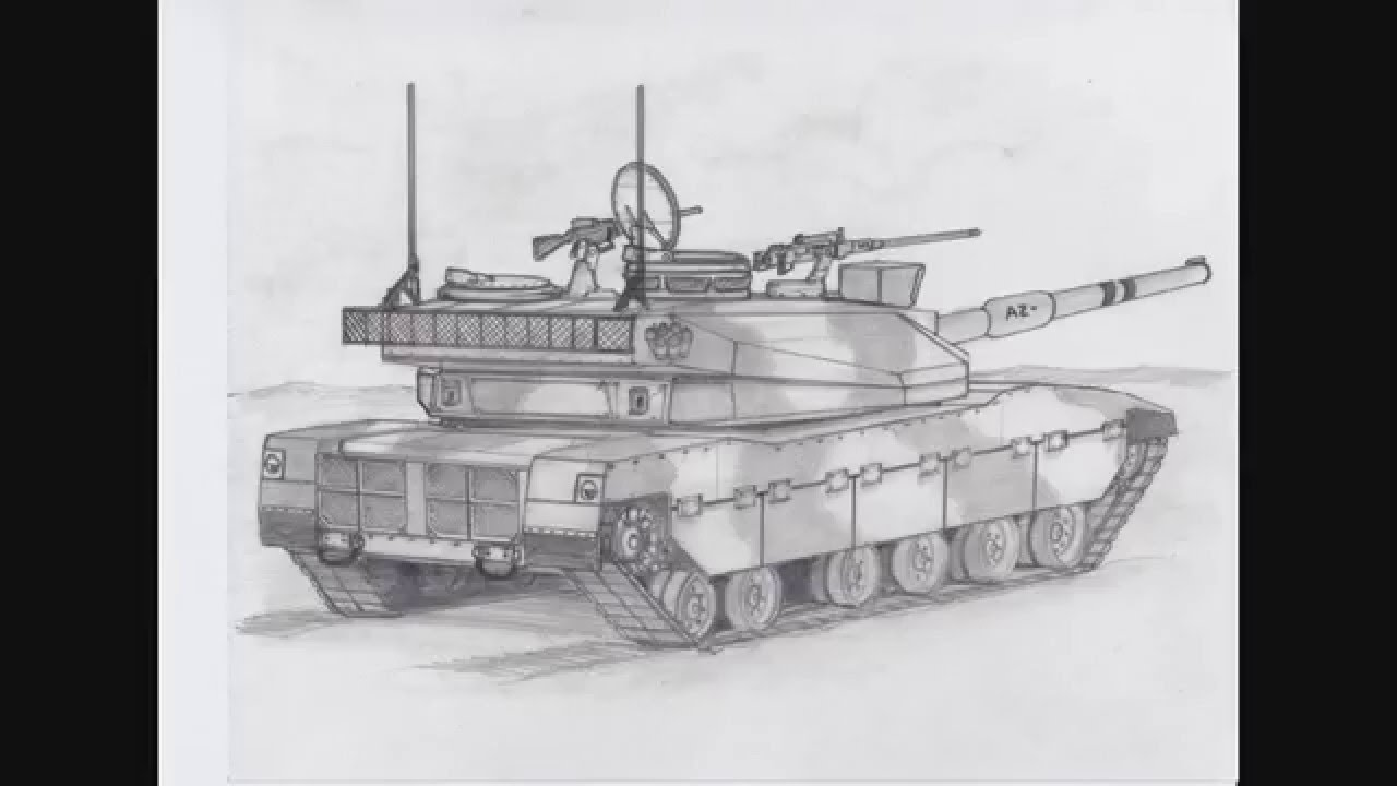 How To Draw A Tank Concept Sketch Youtube
