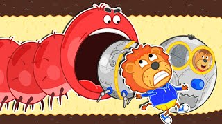 Lion Family 🐛 Journey to the Center of the Earth #34. Millipede Again | Cartoon for Kids