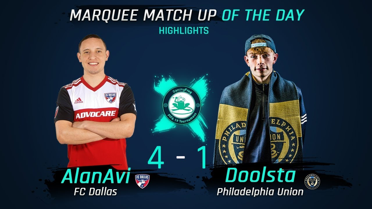 ALAN AVI (FC DALLAS) VS DOOLSTA (PHILADELPHIA UNION) 4 - 1 MATCH REPLAY