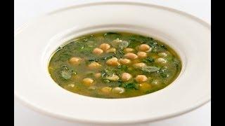 Суп с нутом и шпинатом - видео рецепт Личный Повар