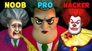 NOOB vs PRO vs HACKER - Scary Teacher 3D