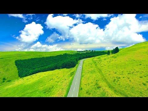 Drone Japan 4k 絶景ドローン 癒し 空撮映像 初夏のビーナスライン 霧ヶ峰高原 空中ドライブ Summer aerial driveバイク ツーリング DJI PHANTOM4