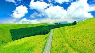 Drone Japan 4k 絶景  ドローン 空撮映像 初夏のビーナスライン 霧ヶ峰高原 空中ドライブ Summer of Venus line Kirigamine aerial drive
