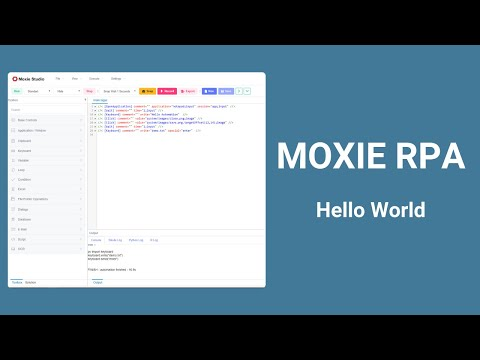 Moxie RPA - Hello World