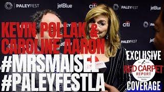 Kevin Pollak & Caroline Aaron interviewed #MrsMaisel at PaleyFest 2019 #AmazonVideo #PaleyFestLA