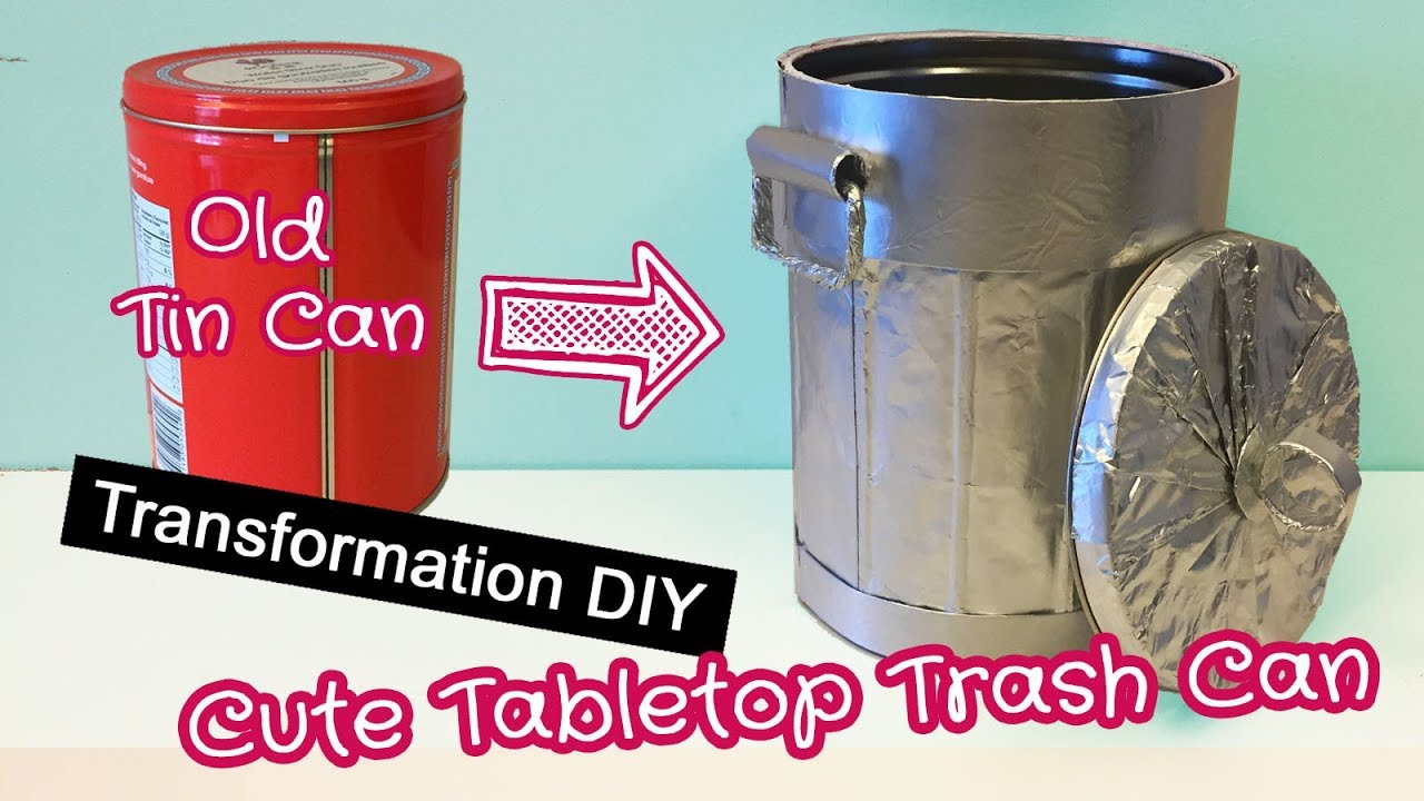 Room Decor Diy Cute Desktop Trash Can Upcycle Diy