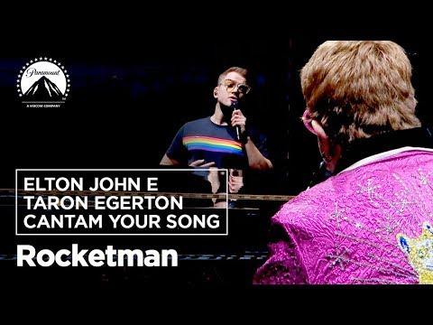 Rocketman   Elton John e Taron Egerton cantam Your Song   Paramount Pictures Brasil