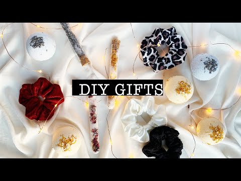 DIY Gifts Bath Bombs, Scrunchies and Bath Salts